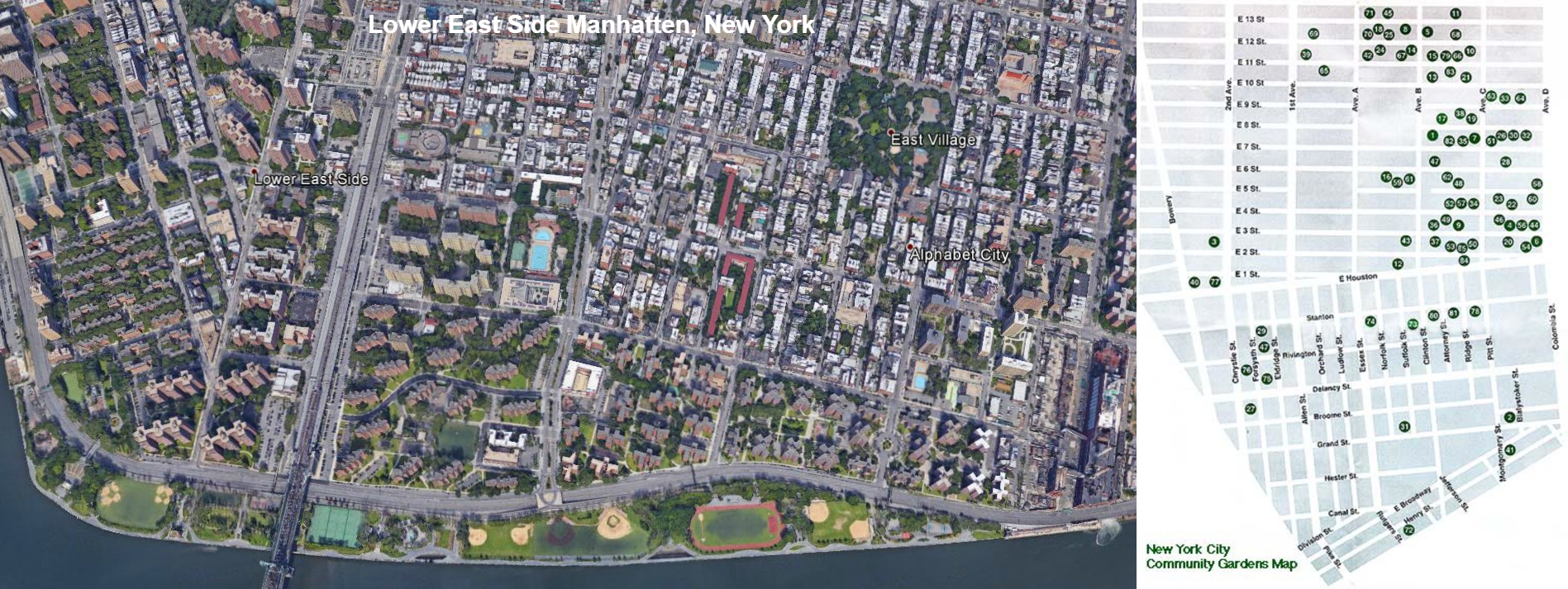 Lower East Side with Garden Map · Earth Celebrations